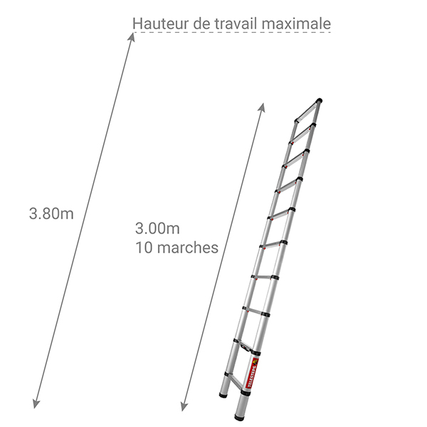 dimensions echelle telescopique TEL 20130