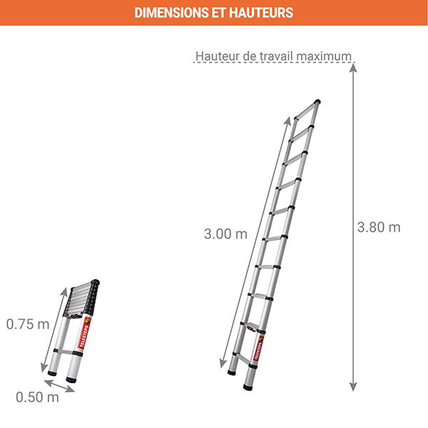 dimensions echelle telescopique TEL 60230