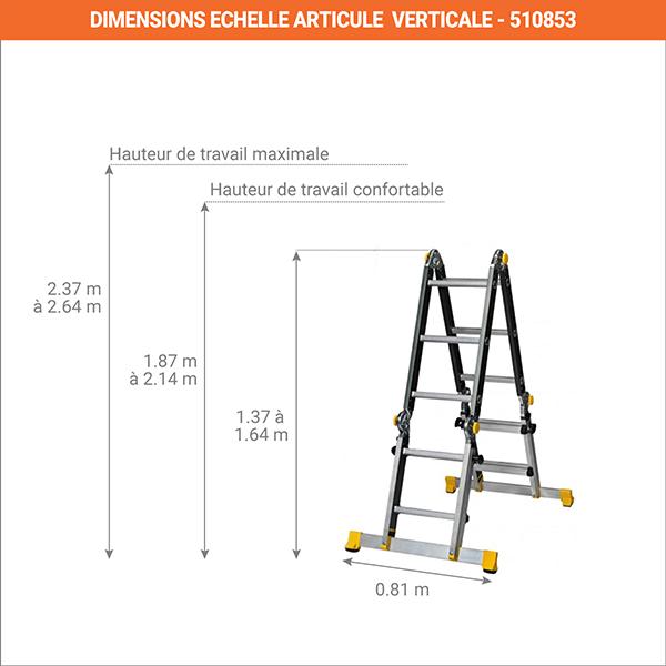 dimensions echelle telescopique verticale 450711
