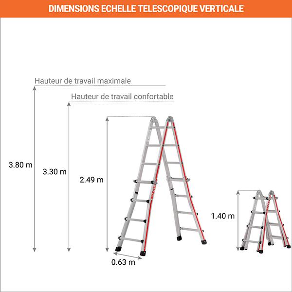 dimensions echelle telescopique verticale 8042