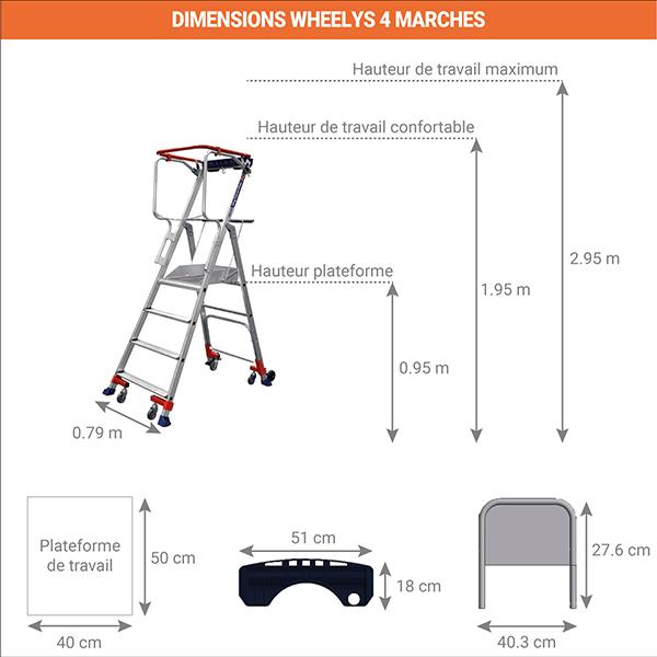 dimensions escabeau wheelys 501904