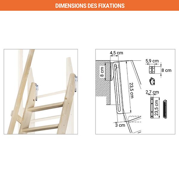 dimensions fixations echelle meunier msp classique