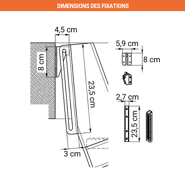 dimensions fixations echelle meunier msp