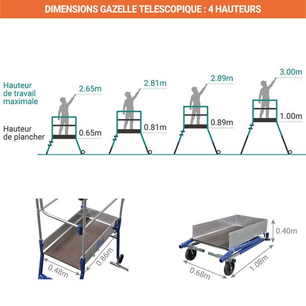dimensions plateforme gazelle 40041