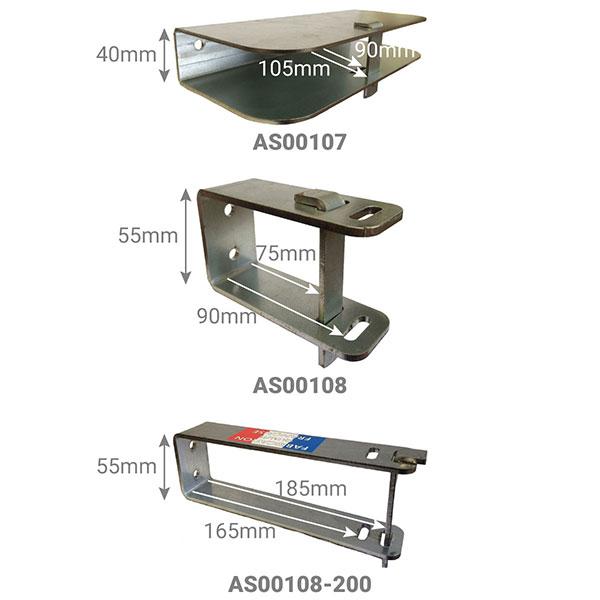 dimensions verrouillage echelle AS00107