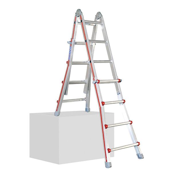 Position échelle pour escaliers