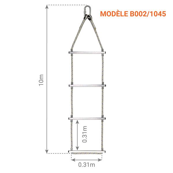 echelle corde dimensions 10m