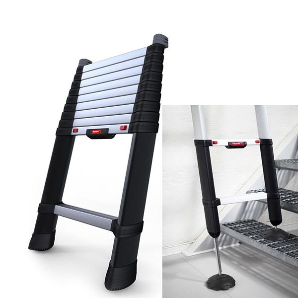 echelle pour escalier avec 2 pieds r glables int gr s r glables sur 25cm. Black Bedroom Furniture Sets. Home Design Ideas