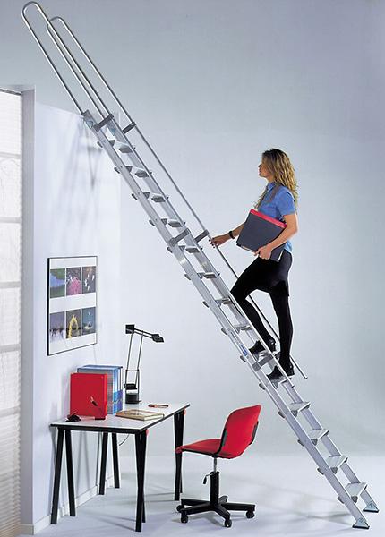 echelle de meunier alu de haute qualit marches de 15cm. Black Bedroom Furniture Sets. Home Design Ideas