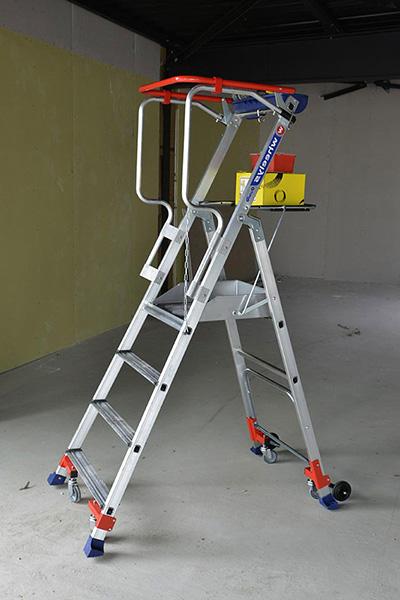 echelle Wheelys sur chantier