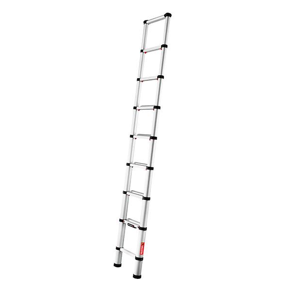 Echelle télescopique aluminium 2.60m entièrement déployée