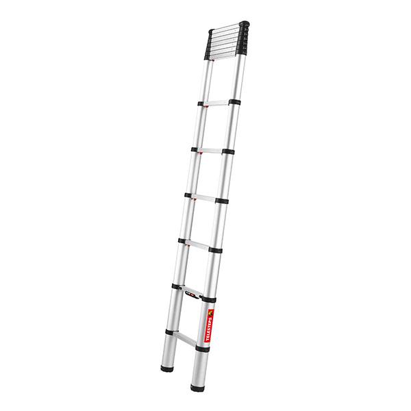Echelle télescopique aluminium 3.20m à moitié déployée
