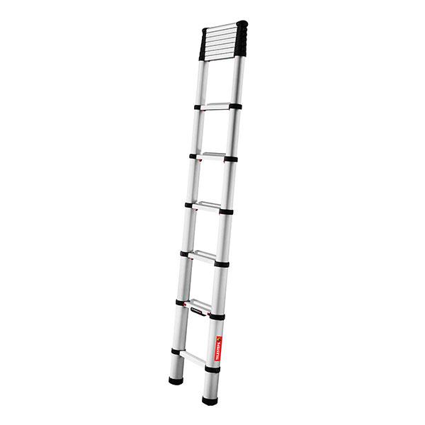 Echelle télescopique aluminium 3.80m à moitié déployée