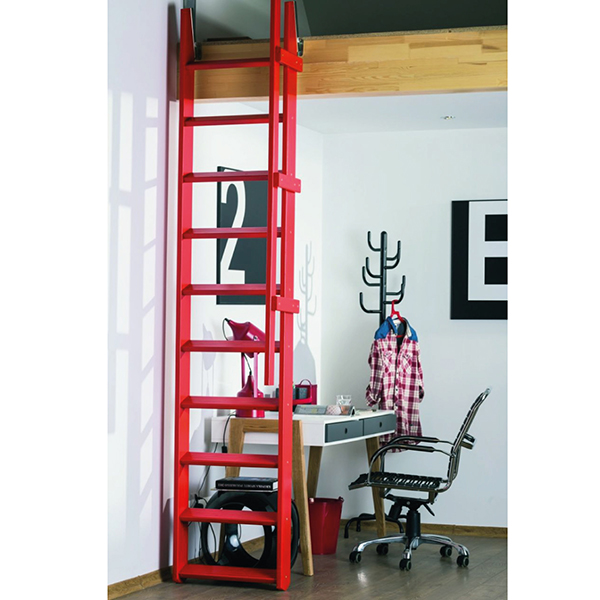 escalier rabattu rouge msp
