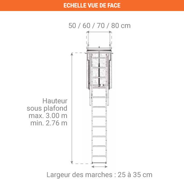 schema echelle escamotable electrique ELEC50 face