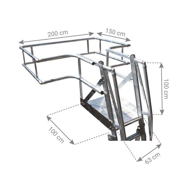schema echelle plateforme camion citerne