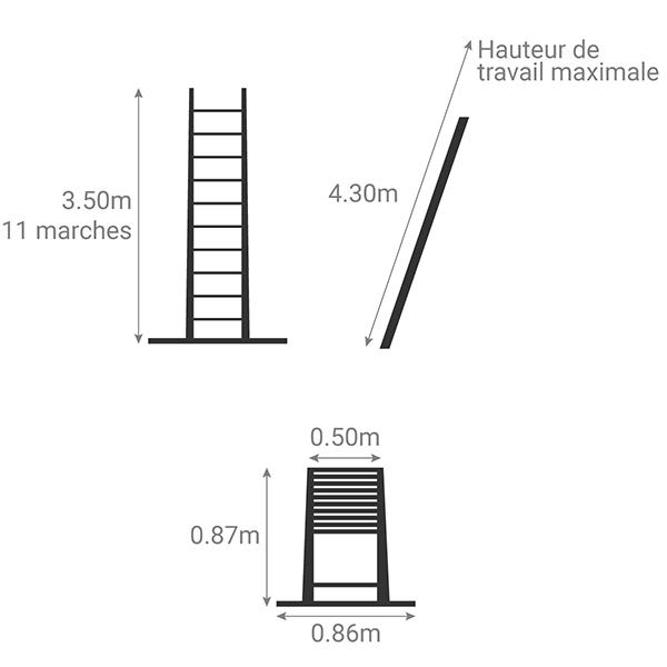 schema echelle telescopique 3m50 TEL 70235WS