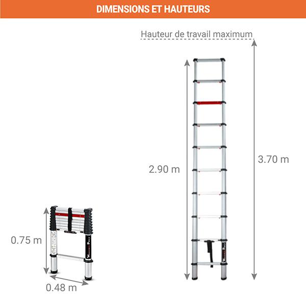schema echelle telescopique bigfoot 2m90