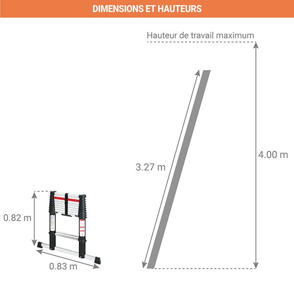 schema echelle telescopique bigfoot 3m20