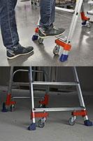 Echelle Wheelys en appui sur les patins