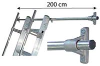 barre accrochage echelle 200cm