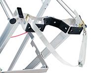 Berceau d'appui de l'échelle de pylone en aluminium