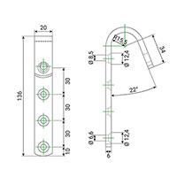 Dimensions des crochets d'échelle de meunier