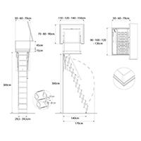 dimensions echelle acces terrasse