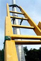 dispositif d'appui de l'échelle isolante