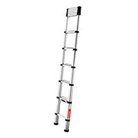 Echelle télescopique aluminium 3.30m à moitié déployée