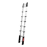 Echelle télescopique aluminium 4.10m à moitié déployée