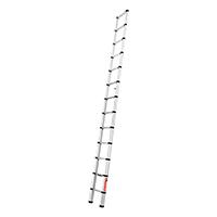 Echelle télescopique aluminium 3.80m entièrement déployée