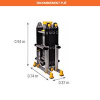 echelle pour escalier aluminium multi fonctions. Black Bedroom Furniture Sets. Home Design Ideas