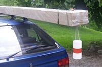 Utilisation du fardier de signalisation sur une voiture