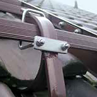 support de serrage echelle toit