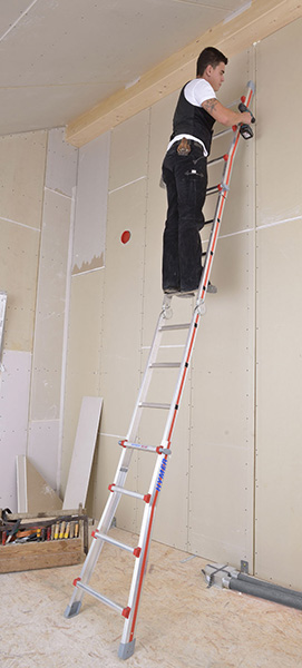 echelle t lescopique 4 plans pour escaliers compactes. Black Bedroom Furniture Sets. Home Design Ideas