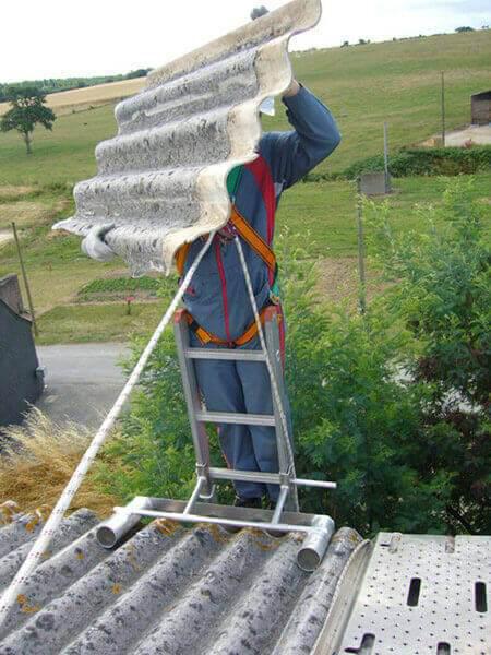 Utilisation du stabilisateur d'échelle de toit