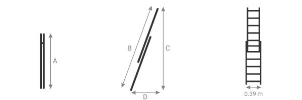 schema de l'échelle pour cage d'escalier