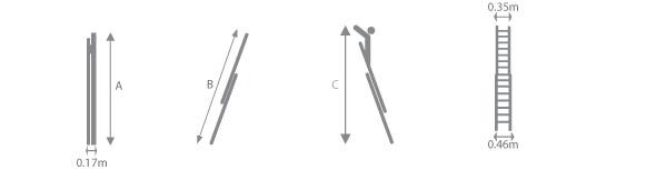 schema de l'echelle coulissante alu