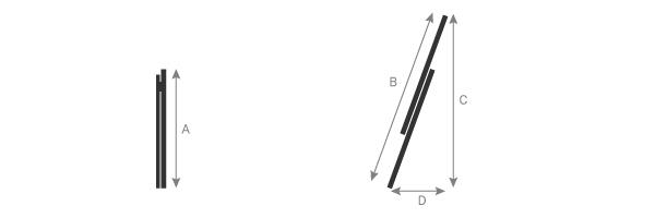 schema de l'échelle isolante coulissante