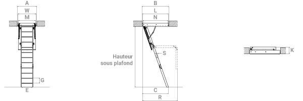 schema de l'echelle escamotable lmf