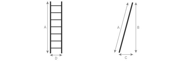 schema de l'echelle fruitiere aluminium