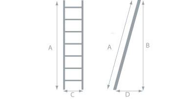 Schéma de l'échelle isolante bois