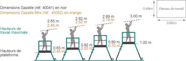 schema de l'échelle plateforme gazelle