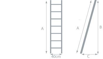 schema de l'echelle simple pvc