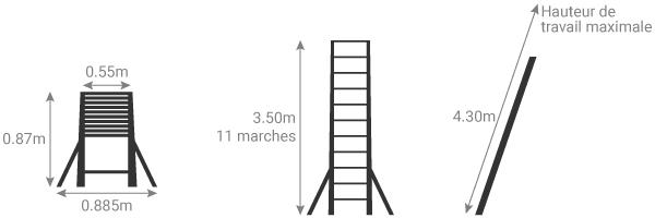 schema echelle telescopique 3m50 TEL 70235STAB