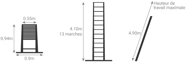 schema echelle telescopique 4m10 TEL 70241WS