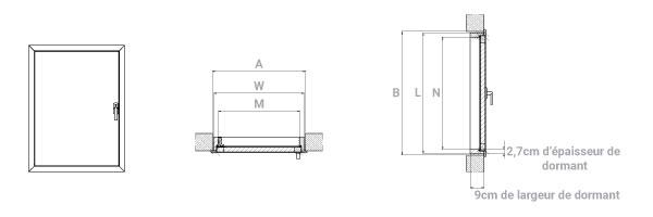 schema d'une trappe de comble coupe feu