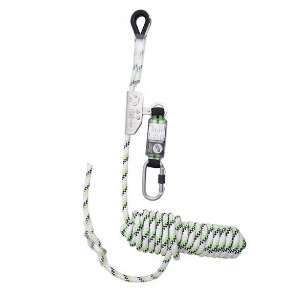 antichute coulissant sur corde tressee avec absorbeur denerg