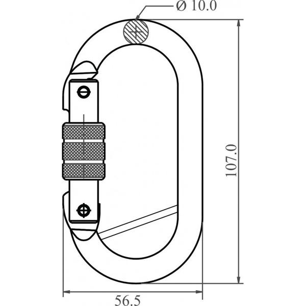 dimensions mousqueton FA5010217